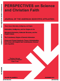 Cover of PSCF December 2011 issue